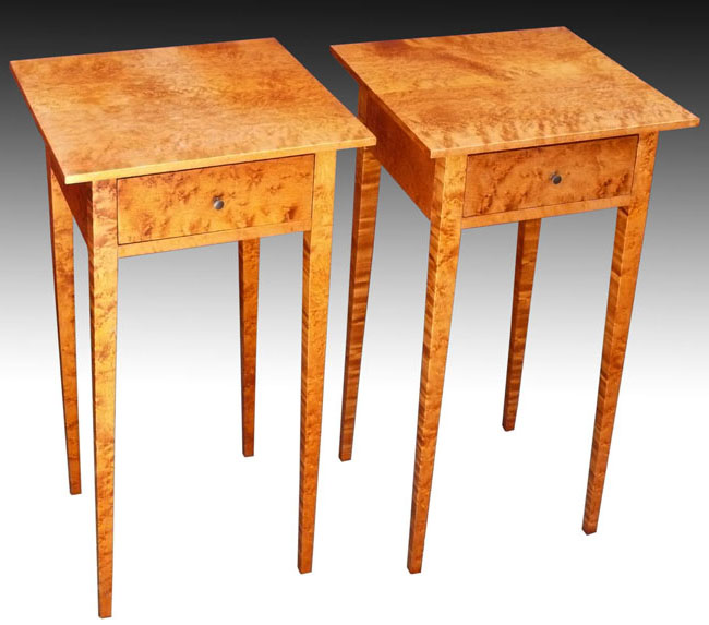 Shaker Furniture To Fit - Birdseye End Tables - Antique Shaker Furniture Antique Furniture